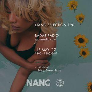 NANG Selection w/ Ralph Hardy, HALFBROTHER, Taliwhoah + Nifty Struggle - 18th May 2017
