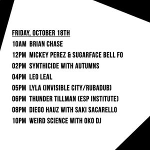 Weird Science with mscln @ The Lot Radio 10-18-2019.