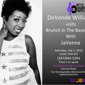 DeVonde Williams on Brunch In The Basement With JaVonne