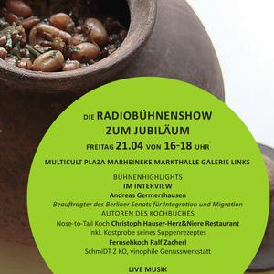 Engagement für Geflüchtete - multicult Plaza Radiobühnenshow 125. Jubiläum Marheineke Markthalle T2