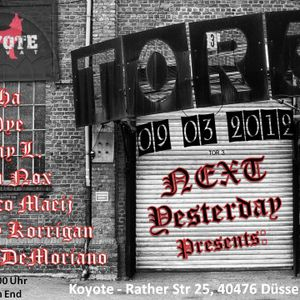 ThoHa@ Next Yesterday 09.03.12 Koyote Club Düsseldorf