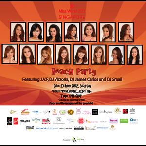 Miss World 2012 Singapore Beach Party