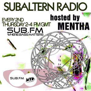 Mentha - Subaltern Radio 06/03/2014 on SUB.FM