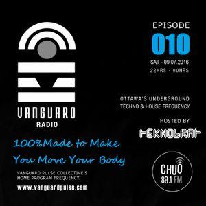 VANGUARD RADIO Episode 010 with TEKNOBRAT - 2016-07-09TH CHUO 89.1 FM Ottawa, CANADA