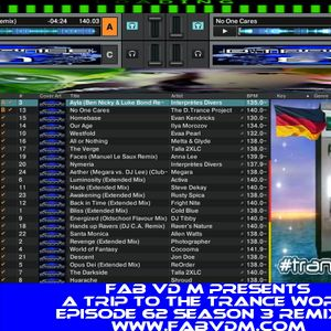 Fab vd M Presents A Trip To The Trance World Episode 62 Season 3 Remixed