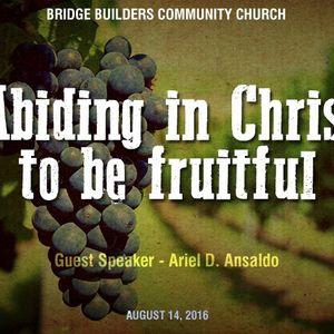 Abiding in Christ - Audio