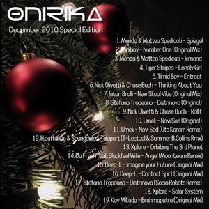 Onirika DJ Set - December 2010 2H. Special Edition