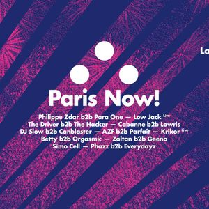 RBMA Paris & La Gaîté Lyrique Present Paris Now! (2015.11.27) : The Driver b2b The Hacker