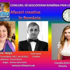Afaceri Creative în România, emisiunea XXIX 20.10.2017-