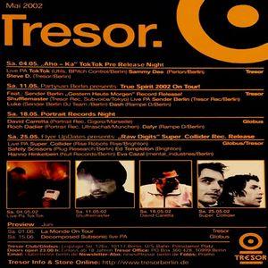 Super Collider aka Cristian Vogel & Jamie Lidell (Live PA) @ Raw Digits - Tresor Berlin - 25.05.2002