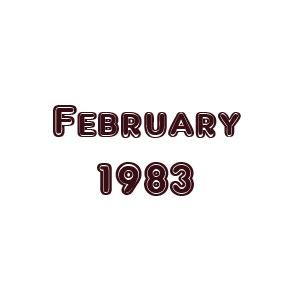 My Favourite UK & US Songs - February 1983