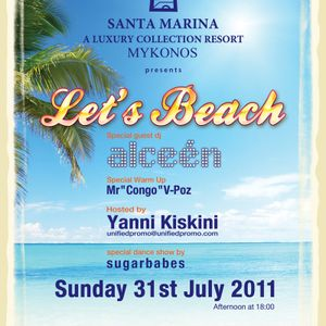 Let's Beach Myconos 2011 (Mr Vpoz Warm up for Alceen)