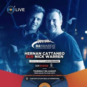 Nick Warren b2b Hernan Cattaneo - DJ Awards Nominee Set, Ocean Drive Ibiza Rooftop 09.08.2018