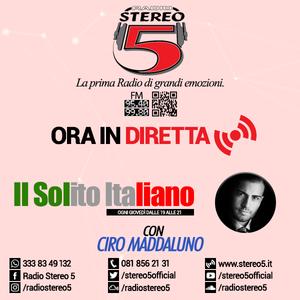 """""""Il Solito Italiano"""" @Ciro Maddaluno #ComeBackHome (Puntata del 08/09/2016) - Radio Stereo 5"""