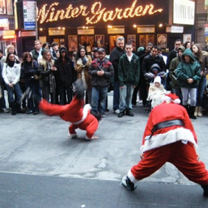 Santa claus is a dancer