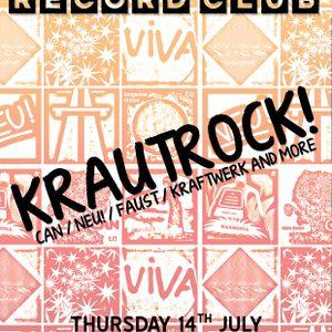 Glossop Record Club - KRAUTROCK! (July 2016)