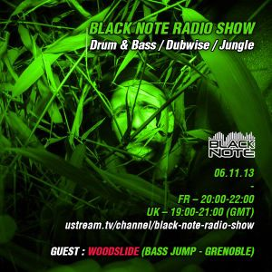 Black Note Radio Show - 06/11/13 - GUEST : WOODSLIDE