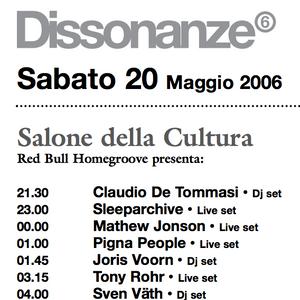 Sven Väth live @ Dissonanze, Rome, Italy - 20.05.2006