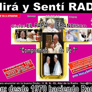"""CONTIUAMOS CICLO  """"EL PAPA FRANCISCO"""" (DA COMPROMISO DE FE) BANNER 106 DE V.B.H.-LUCES Y SOMB 2-3-14"""