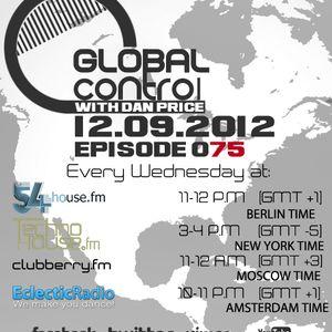 Dan Price - Global Control Episode 075 (12.09.12)