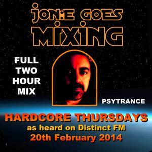 JGM360: Hardcore Thursdays (Distinct FM 20th February 2014)