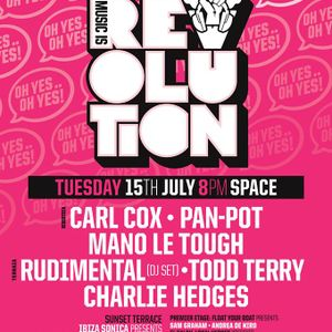 Carl Cox - Live At Music Is Revolution Week 3, Space (Ibiza) - 15-07-2014 [Sh4R3 OR Di3]