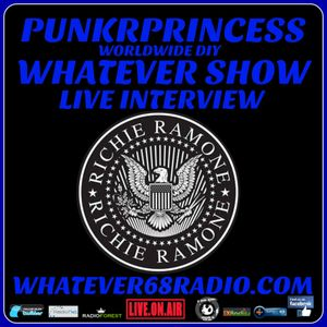 PunkrPrincess Whatever Show live interview with Richie Ramone recorded live 9/7/16