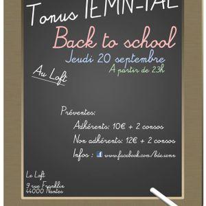 Tonus Back to School IAE Le Loft 20-09-2012