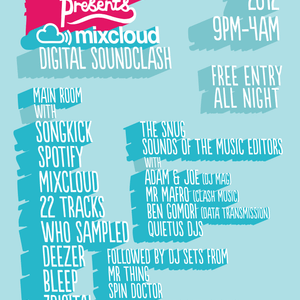 Ben Gomori - Live at the Mixcloud Soundclash @ Big Chill House - 28th April 2012