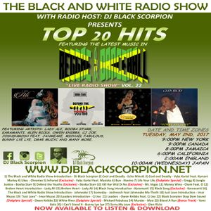 The Top 20 Hits on The Black and White Radio Show Vol. 22 (Reggae & Dancehall) 5-2-17