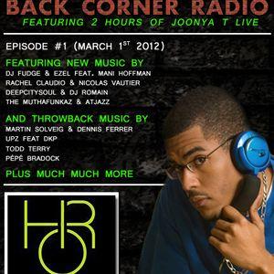 BACK CORNER RADIO: Episode #1 (March 1st 2012)