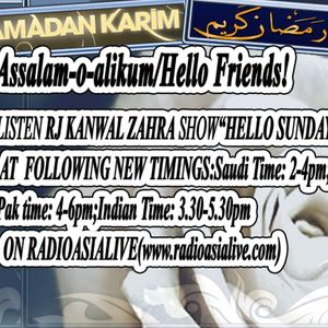 *Hello Sunday Show With Rj Kanwal (29th July,2012[Ramzan])