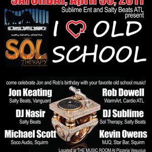 DJ Nasir & Jon Keating Live at I <3 Old School, Downtown Atlanta, April 30, 2011