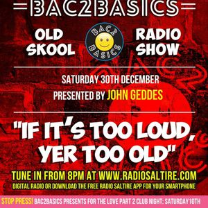 Bac2Basics with John Geddes 30/12/17