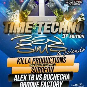Alex TB vs Buchecha - 4 Decks @ Time Techno Festival - Motril - Spain - 14.08.2012