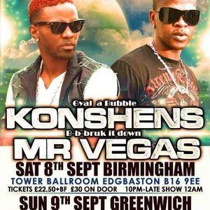KONSHENS MIXTAPE, UK TOUR  8/9/12 B'HAM 9/9/12 LONDON