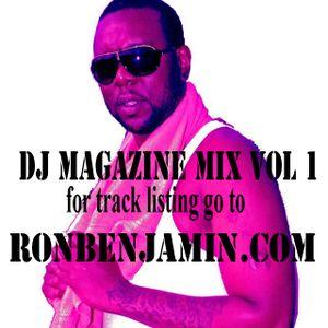 DJ MAGAZINE MIX VOL 1 by Ron Benjamin