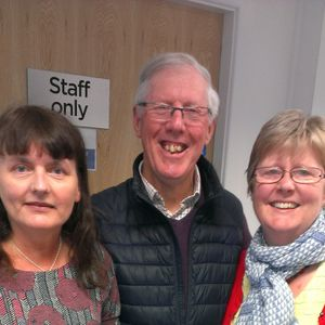Breakfast w. Liz Johnson (Len Daniels, Leyland Morris Men; Maureen Chadwick, diabetes consultant)
