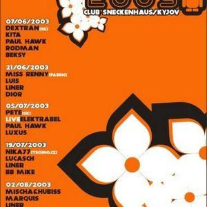 beksy@CLUBGROOVE 7.6.2003 --Šneckenhaus Kyjov