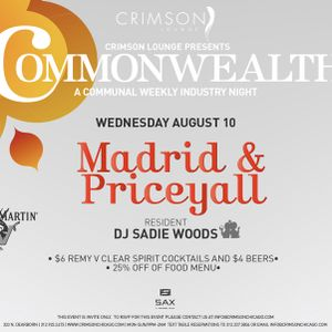 Commonwealth 10 August 2011 featuring Priceyall
