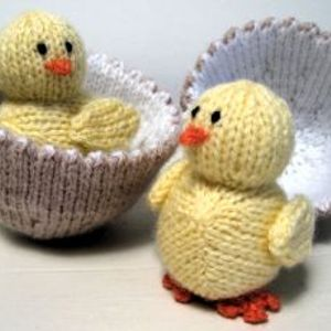 Knitted Chicks in aid of Chernobyl - Clodagh Madden