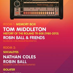 Tom Middleton 'History of the Roland TR-808' Memory Box set live at Corsica Studios London 6-7-13
