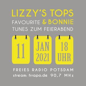 LIZZY'S TOPs & BONNiE - favourite tunes zum Feierabend, JANUAR 2021, Freies Radio Potsdam