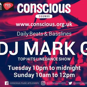 Dance of the year chart show DJ Mark G on conscious sounds radio