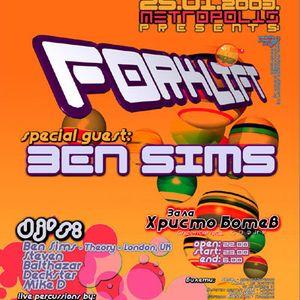 Ben Sims @ Metropolis Forklift, Sofia, Bulgaria (25.01.2003)