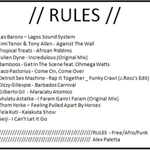 Rules (Free/Afro/Funk) mixtape