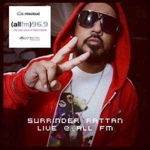 Surinder Rattan live @ All Fm with Gorilla Chilla & Dj Rav every Thursday 1-2 pm 19/1/12