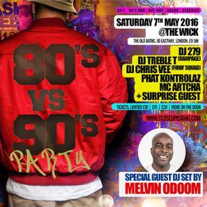 80's vs 90's Party Mix by DJ 279 - Tickets via www.closeupisking.com