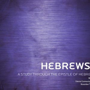 Hebrews - Week 2 - Audio