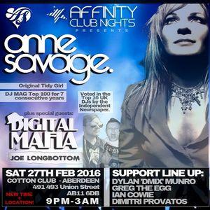 Dylan 'Dmix' Munro @ Affinity: Anne Savage, Digital Mafia & Joe Longbottom!